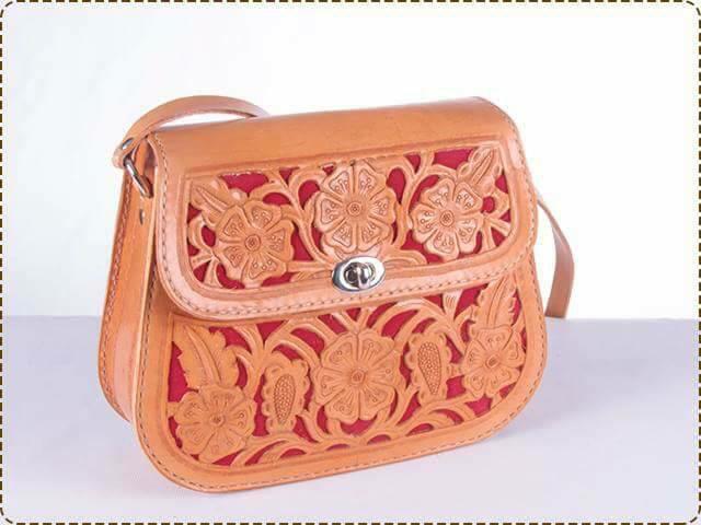 Señoras Diseño Hermoso Antiguo Buen Cuero Bolso de mano