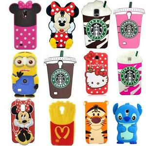 3d cute cartoon soft silicone back cover case for samsung for Housse samsung galaxy s5