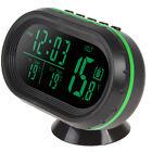 4 in1 Auto 12/24V LED Digital Car Clock Thermometer Temperature Gauge Voltmeter