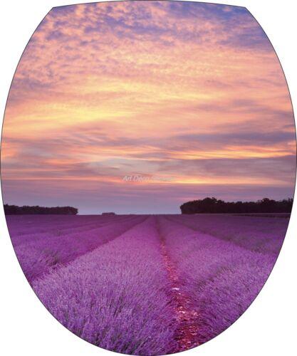 Sticker toilet lid wc lavender 35x42cm ref 251