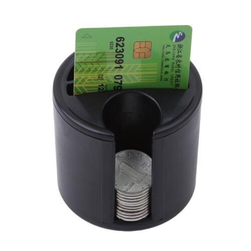 Mini Car Black Key Coin Gadget Storage Card Cup Holder Organizer Plastic 1PC LH