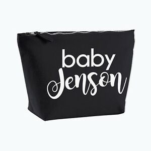 2307805c85a1e Image is loading Personalised-Baby-Nappy-Bag-Pouch-Mini-Changing-Bag-