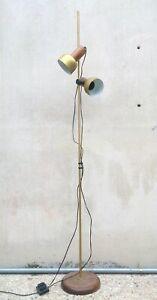Lampada Terra Anni 60.Dettagli Su Eccezionale Lampada Da Terra Pavimento Piantana Design Anni 60