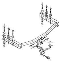 Anhängerkupplung für VW Passat Kombi (B5FL) / (3B) 11/2000-08/2005 starr