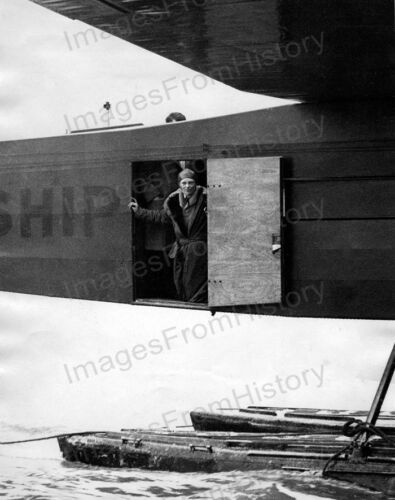 8x10 Print Amelia Earhart Peers from Cabin Door of the Friendship #AEAG