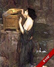 OPENING PANDORA'S BOX GREEK MYTHOLOGY OIL PAINTING ART REAL CANVAS GICLEEPRINT