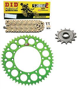 DID-race-chain-amp-14t-49t-Renthal-green-sprocket-kit-Kawasaki-KX250F-2006-2016