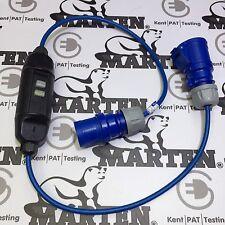 240V 16A SPINA A 16 AMP Socket / Accoppiatore VOLA PIOMBO dotato dell' interruttore differenziale 1 Metro Lungo