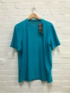 New Large Blue Under Armour Men/'s UA Branded BL Short Sleeve T-Shirt