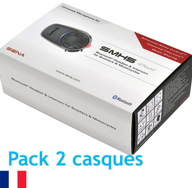 Intercom / Kit mains-libres Bluetooth duo Sena SMH5 Dual - SMH5D-UNIV - moto