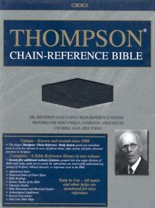 KJV-Thompson-Chain-Reference-Bible-Black-Bonded-Leather-Thumb-Indexed