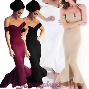 Caricamento dell immagine in corso Vestito-donna-abito-lungo -scollato-aderente-sirena-elegante- bc437234a88