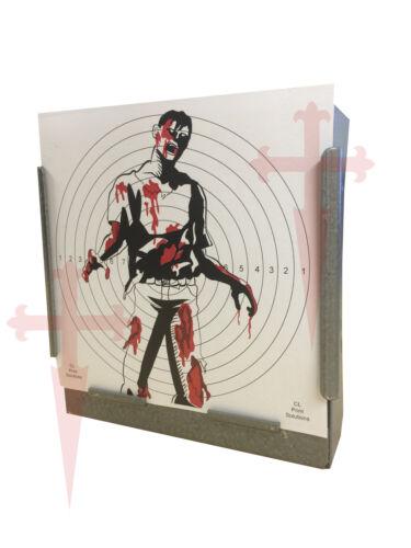 100 air rifle SG Zombie full colour papier de cibles pistolet pistolet 14cm 100gsm uk made