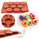 9 Oval Cavity Silicone Soap Cake Mold Chocolate Muffin Cupcake Baking Mould Pan