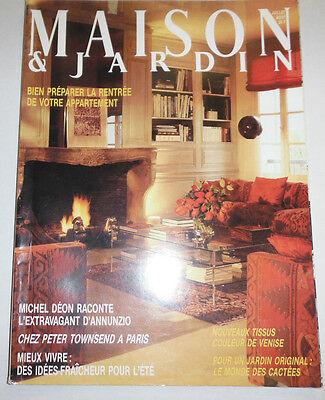 Maison & Jardin French Magazine Michel Deon July/August 1984 101414R1 | eBay