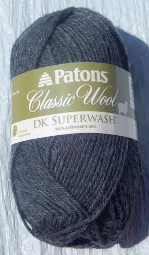Patons Classic Wool DK SUPERWASH Yarn Dark Grey Heather New /& Smoke Free Home