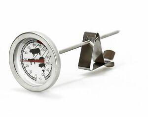 Thermometer Bratenthermometer Edelstahl Fleisch Grill Backofen Koch