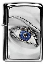 ZIPPO Feuerzeug WOMAN EYE High Polished Chrome Auge Frau Girl NEU OVP