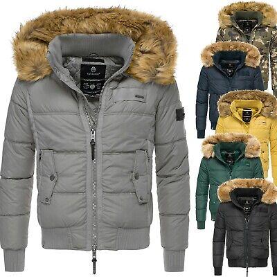 Navahoo Herren Winter Jacke Steppjacke Warm Outdoor Kunst Pelzkragen SKY CAPTAIN   eBay