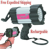 Hand Crank Spotlight 16 Led Flash Light Rechargeable Emergency Car Truck