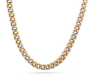 Stainless steel Curb Link chain Necklace Silver Gold Fashion Women Men Jewelry