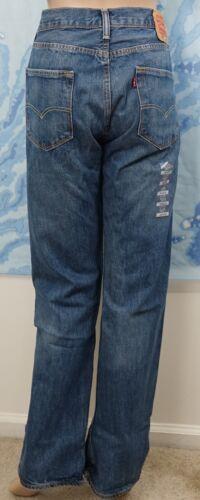 w 32 Button L Co Pantaloni Denim originalissimi 501 Blue Strauss Fly 34 Jean Levi's wvq1O4