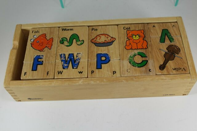 Wooden alphabet puzzle Learning Resources   eBay