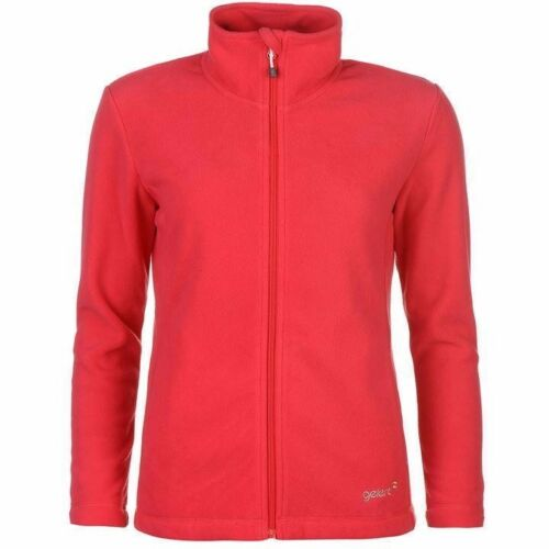 Ladies Branded Gelert Warm Full Zip Ottawa High Neck Fleece Jacket Top Size 8-18