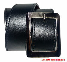 STYLISH GENUINE FAUX LEATHER BLACK BELT FOR MEN'S/GENTS 100% FREE SHIPPING E