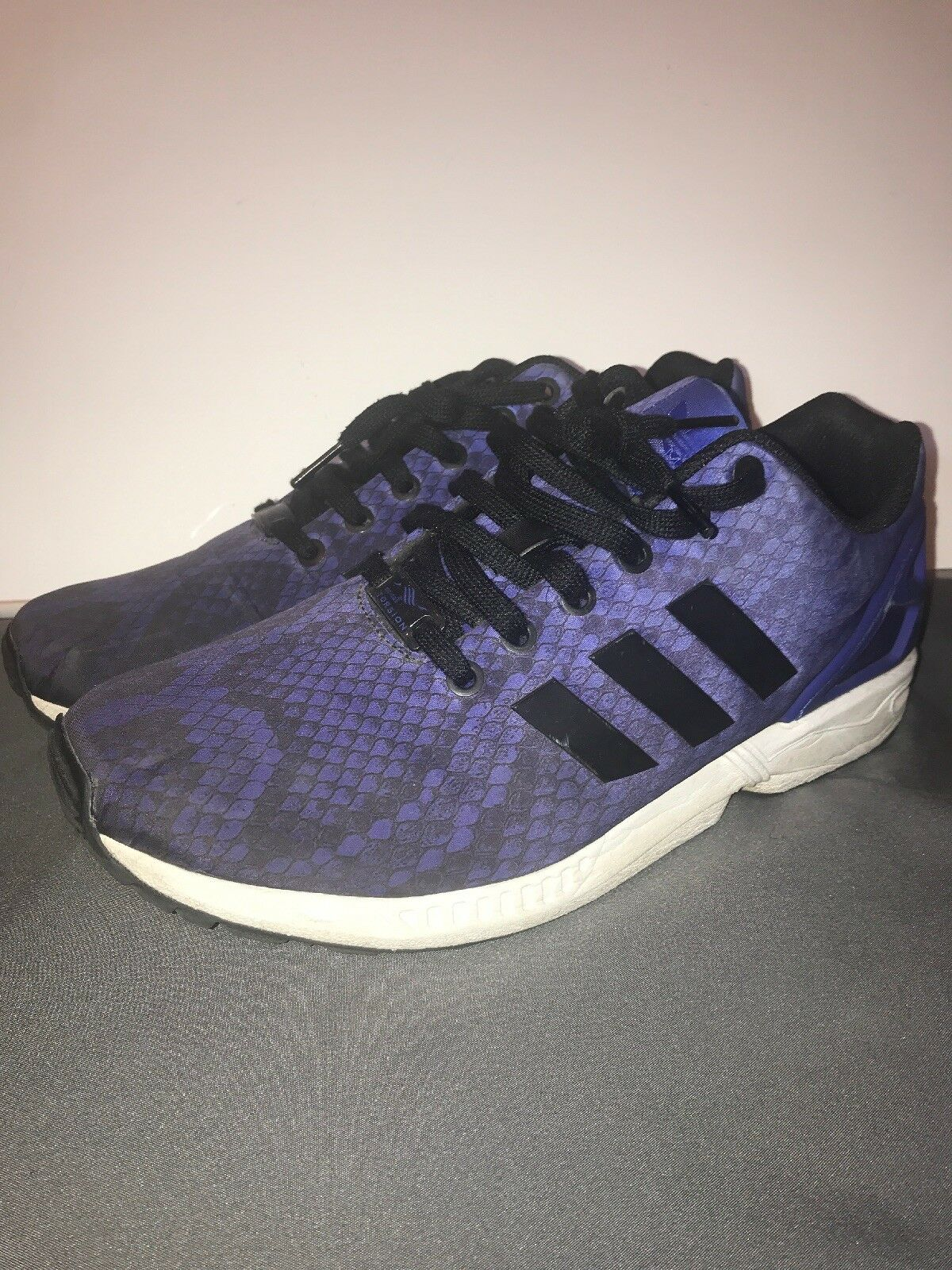 USED ADIDAS ORIGINALS XENO ZX FLUX BLUE SIZE 9.5 New shoes for men and women, limited time discount