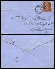 PENNY ROSSO 1862 Londra iniziale ispettori CERCHIO BCE utilizzato localmente
