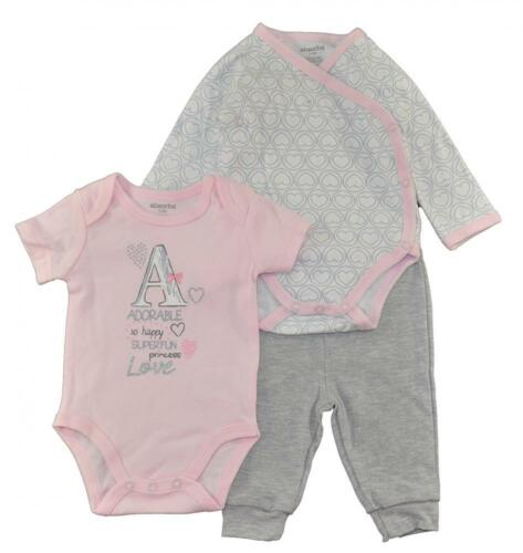 Absorba Infant Girls Bodysuit 3pc Pant Set Size 0//3M 3//6M 6//9M $32