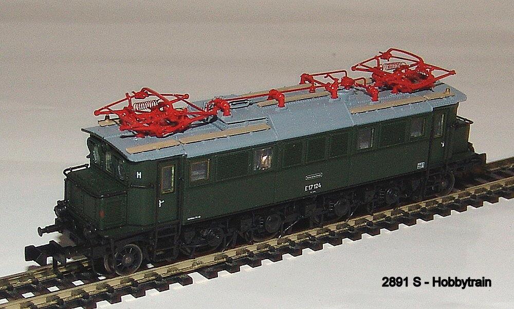 2891 S S S -  Hobbytrain - E-Lok BR E17 DR green, Ep.III Sound Neu 77f7d8