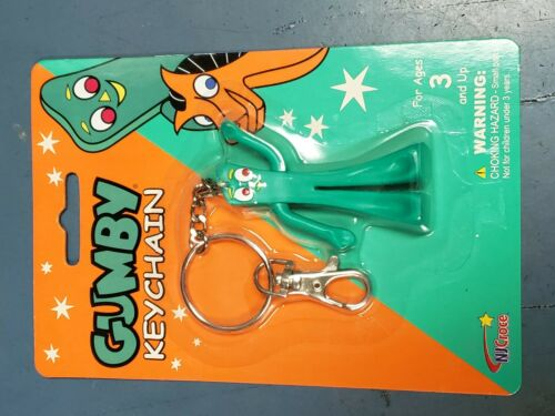 Gumby Keychain Key Chain Keyring Ring Toy Collectible Figurine Claymation NEW!!!
