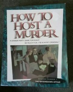 Vintage 80s How to Host a Murder Dinner Party Game for 8 The Watersdown  Affair