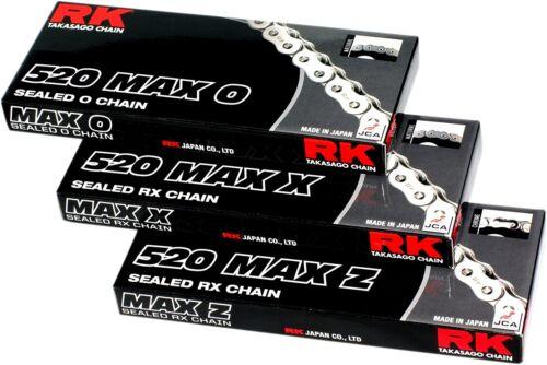 RK 520MAXX-120-BG 520 Max-X Chain 120 Links Black//Gold