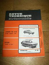REVUE TECHNIQUE AUTOMOBILE n° 349 OCT 1975 CITROËN GS 6CV DATSUN CHERRY 120A