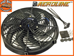 14 aeroline radiateur lectrique 12v ventilateur refroidissement incurv ebay. Black Bedroom Furniture Sets. Home Design Ideas