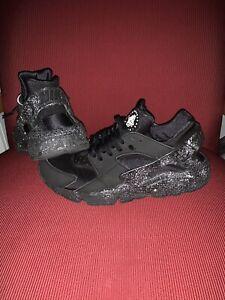 Custom Nike Air Huarache Men's Black
