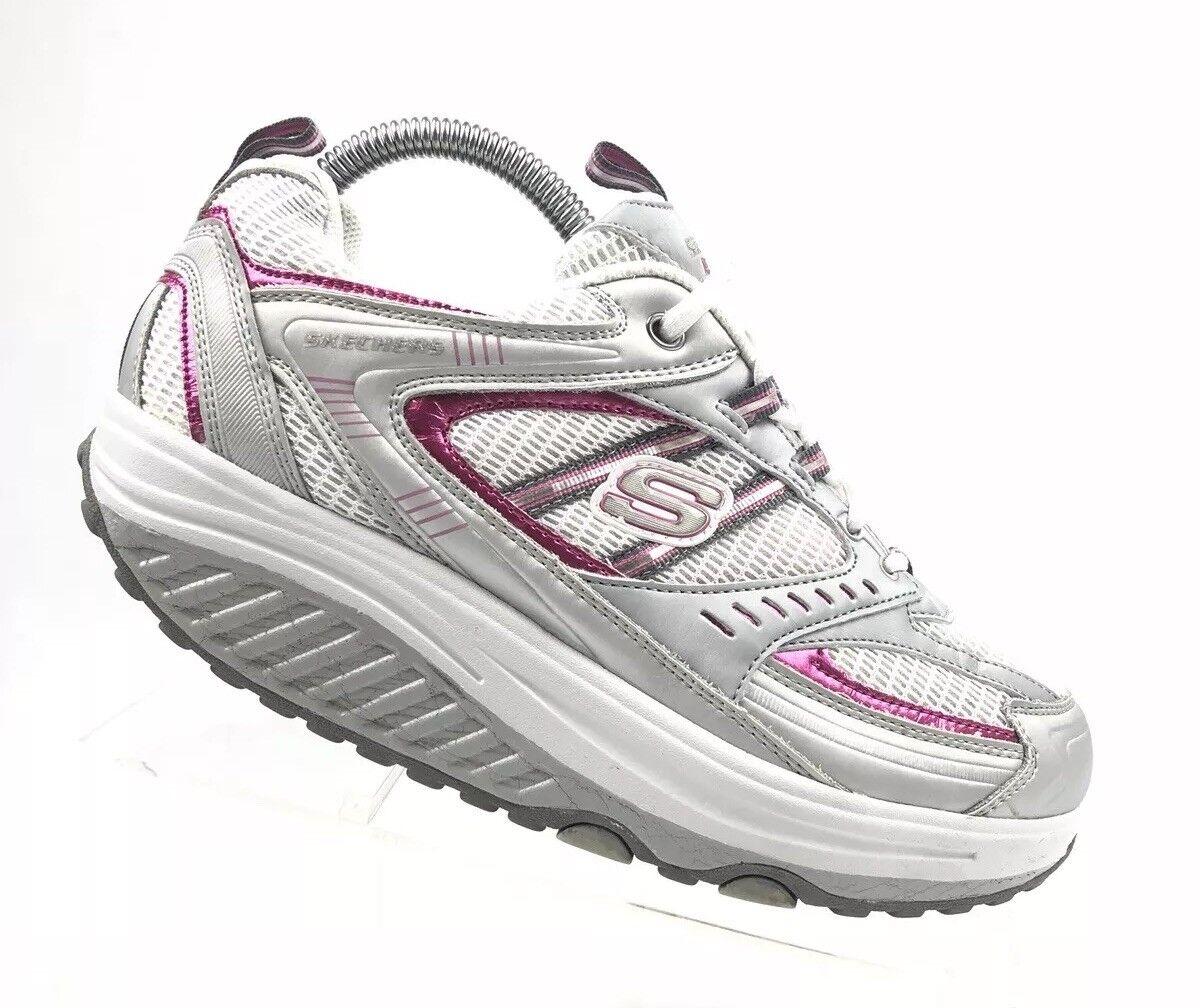 Skechers Womens Shape Ups 11814 Sz 8 Fit Walking Sneaker Athletic B506
