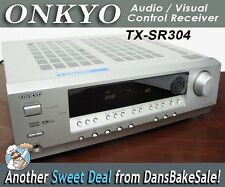 Onkyo TX-SR304 AV Audio Visual Home Theater Receiver Silver 5 Channel 65 Watts