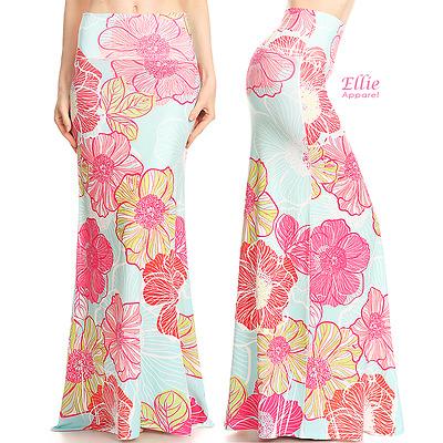 S//M//L//XL//1XL//2XL//3XL Boho Paisley Pink Sublimation high waist maxi long skirt