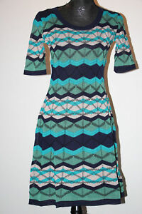 49ea8052be62 La foto se está cargando M-Missoni-Crochet-Knit-Mezcla-de-Algodon-Verde-