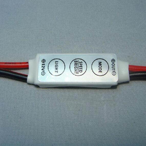 Mini White 12V12A LED Dimmer Controller For Single Color 5050/3528 Led strips