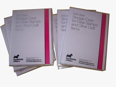 STORAGE CASES X 50 FOR CLEAR/CRAFT STAMPS AND OTHER CRAFT ITEMS - DVD STYLE