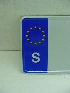 S Sweden custom european car license plate tag saab volvo class x country turbo