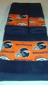 Denver Broncos New Fabric Now in Stock 3 piece Bath towel Set- GREAT GIFT!!!