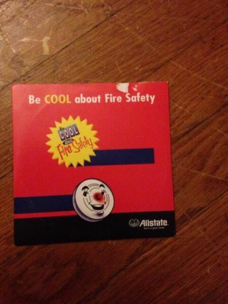 Be Cool About Fire Safety Allstate Insurance Brochure 10 Pack
