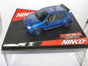 NINCO-50272-CITROEN-SAXO-RALLY-SLOT-EXPO-NUOVE-2002-OFF-DRIVERS-LIMIT-ED-MB