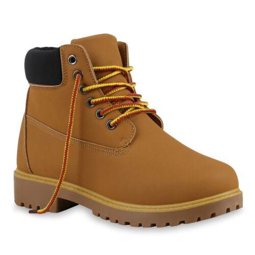 Bequeme Damen Stiefeletten Outdoor Worker Boots 891094 Trendy Neu